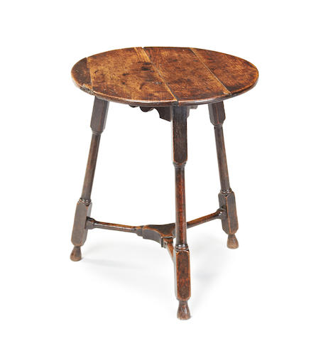 A George II small oak cricket table, English or Welsh, circa 1740