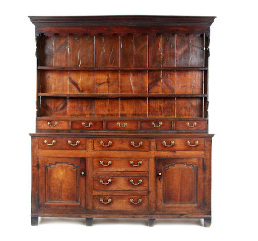 A George III oak high dresser, North Wales, circa 1770-80