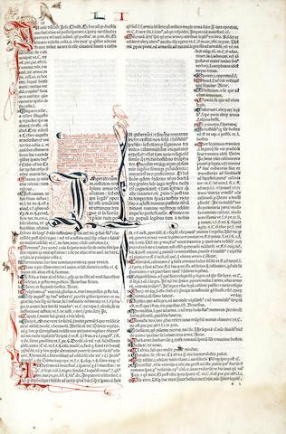 JUSTINIAN I Corpus iuris civilis. Institutiones, Venice, Andreas de Soziis, 1484
