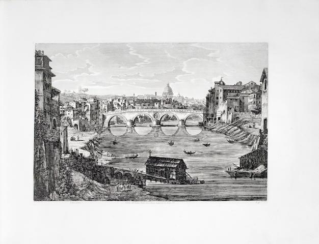 ROSSINI (LUIGI) Le Antichità Romane, ossia raccolta delle piu interessanti vedute di Roma Antica, Rome, Presso l'autore, plates dated 1819-1823