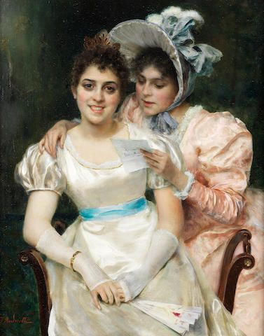 Federico Andreotti (Italian, 1847-1930) The shared secret