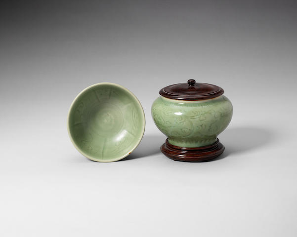 A small Longquan jar Ming Dynasty