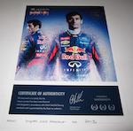 A signed Mark Webber race suit, 2013 Formula 1 season,