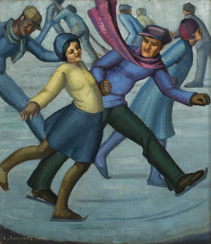 Ethel Spowers (1890-1947) The Skaters, 1931