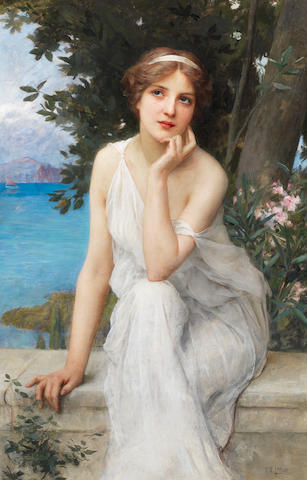 Charles Amable Lenoir (French, 1861-1940) Reflective thoughts
