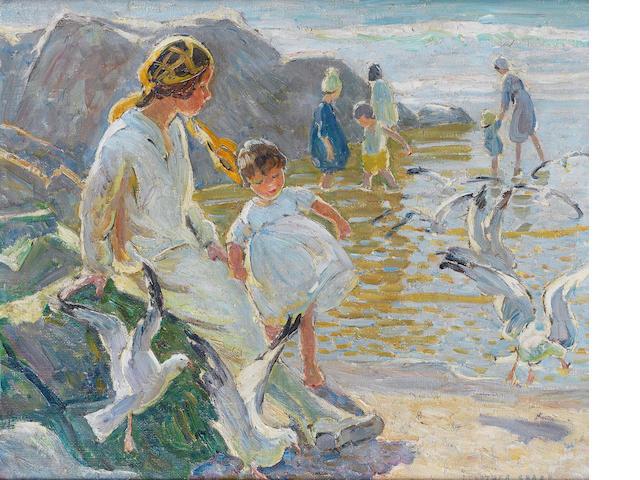 Dorothea Sharp, RBA, ROI (British, 1874-1955) Seagulls