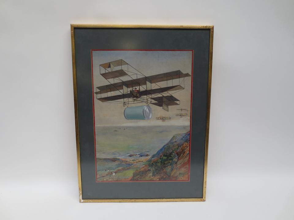 Robert Caruana Dingli (1881-1940), 'Aerial Delivery',