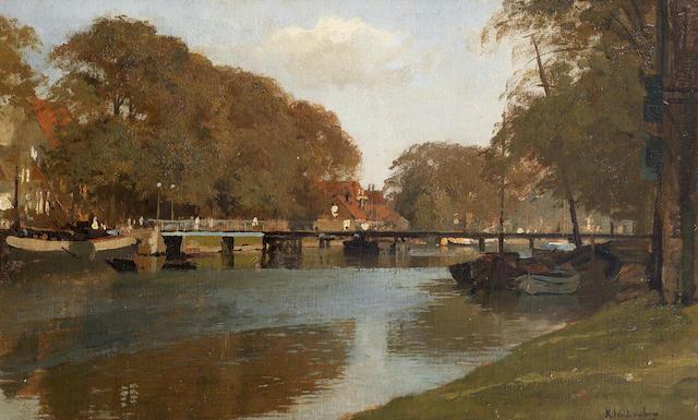 Johannes Christiaan Karel Klinkenberg (Dutch, 1852-1924) Canal scene