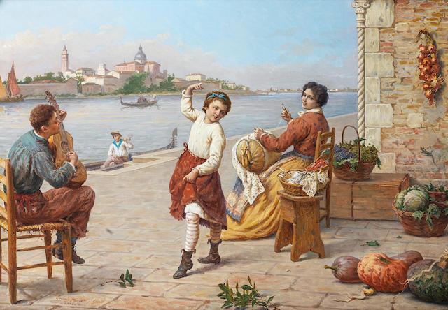 Antonio Ermoao Paoletti (Italian, 1834-1912) Music hath charms