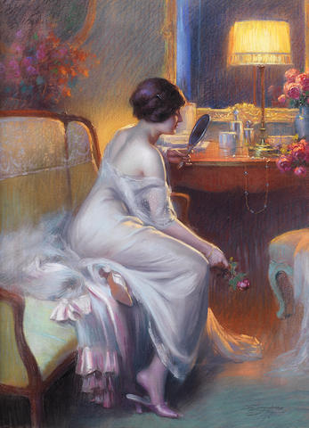 Delphin Enjolras (French, 1857-1945) A fair reflection