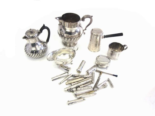 An early 20th century American silver mug by La Pierre The International Silver Company, Meriden Conneticut and 27 further items(28)