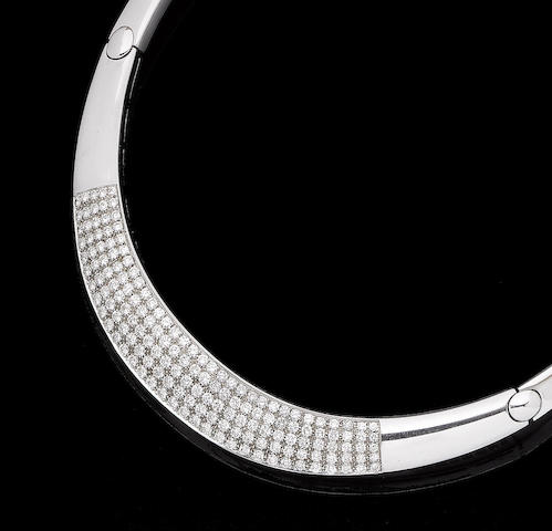 A diamond-set collar necklace, by Alvestile