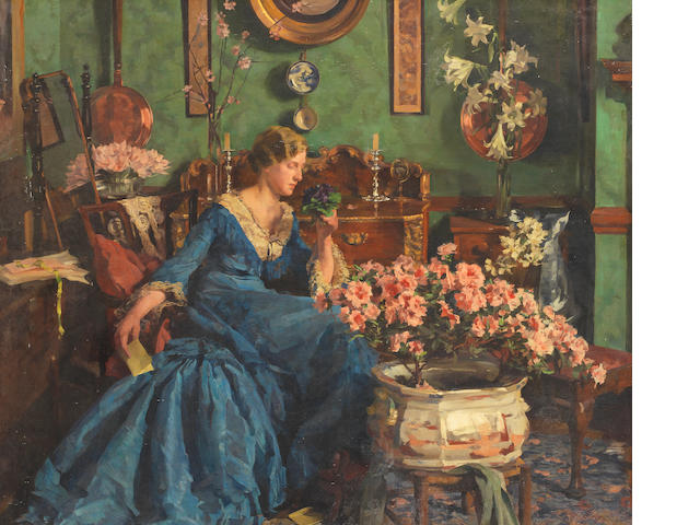 Anna Airy, RI, ROI, RP, RE, PS, GI (British, 1882-1964) Spring Birthday