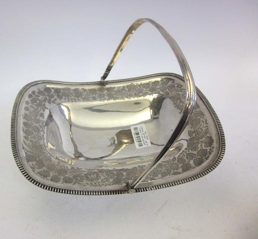 A George III silver swing-handled basket by Wallis & Hayne, London 1809 (2)