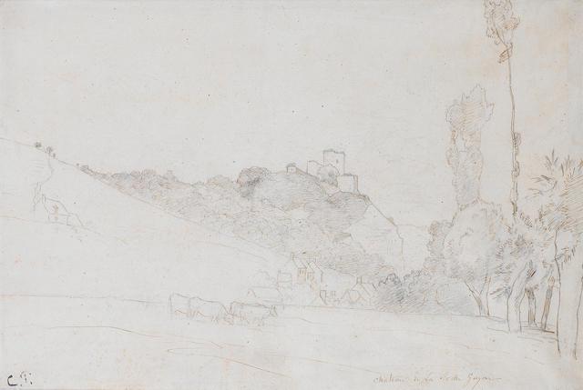 Camille Pissarro (French, 1830-1903) Chateau de la Roche-Guyon