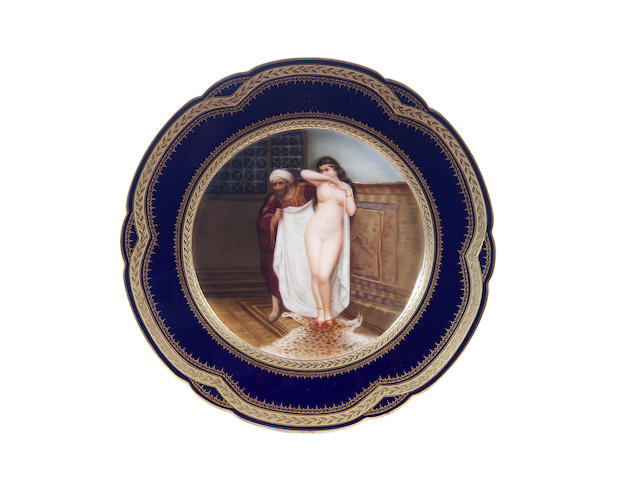 A Vienna-style plate, early 20th century