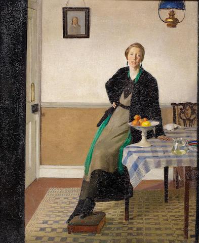 Harold Harvey (British, 1874-1941) An interior