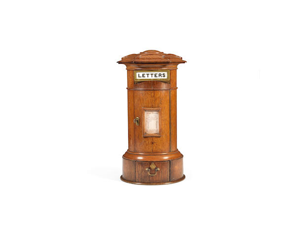 A Victorian oak 'Country House' postbox