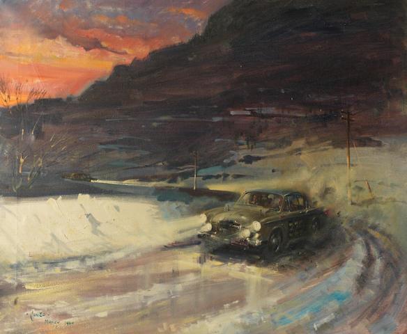 Terence Cuneo (1907-1996), «Rallye de Monte Carlo 1960»,
