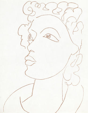 Henri Matisse (French, 1869-1954) Poesies Antillaises Lithograph, 1972, on Japan, from the supplementary suite of twelve prints which accompanied the deluxe book edition of 50 (there was also an edition of 200), published by Fernand Mourlot, Paris, the full sheet, 381 x 280mm (15 x 11in)(SH)