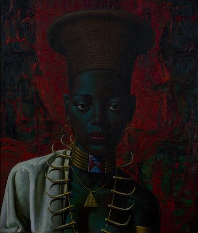 Vladimir Griegorovich Tretchikoff (South African, 1913-2006) 'Zulu Maiden'