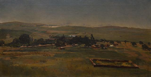 Frans David Oerder (South African, 1867-1944) Frederick Jacobus Bezuidenhout's Farm, Bezuidenhout Valley