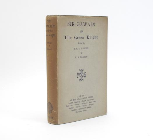 TOLKIEN (J.R.R.) and E.V. GORDON Sir Gawain and the Green Knight, first edition, Oxford, Clarendon Press, 1925