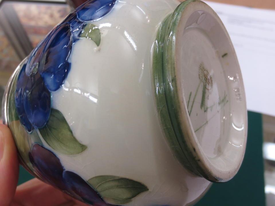 A William Moorcroft Macintyre 'Pansy' vase Circa 1912