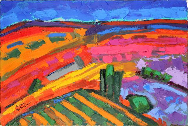Pierre Ambrogiani (French, 1907-1985) Landscape