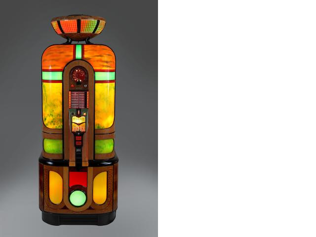 "A fine and rare Rock-Ola ""Commando"" jukebox , Type 1420 cataline version, American,  1942,"