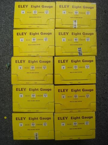 250 Eley 8-bore (3¼in) cartridges