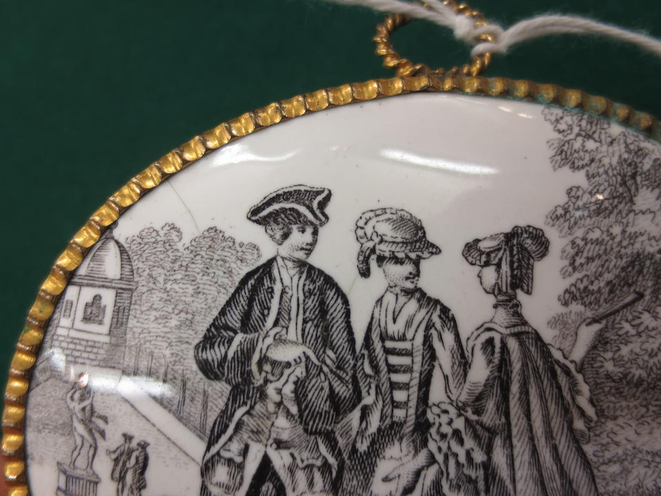 A pair of enamel plaques Staffordshire or Liverpool, circa 1770