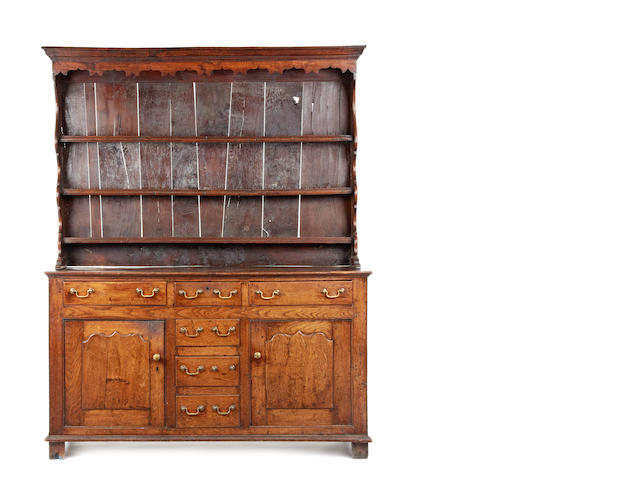A George III oak high back dresser, Conway Valley, circa 1760