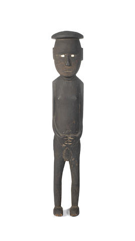 A Solomon Islands standing figure, probably Guadalcanal. 58cm high