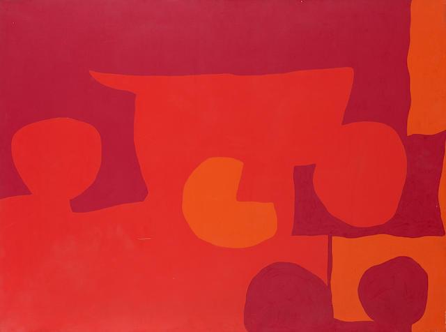 Patrick Heron (British, 1920-1999) 3 Cadmiums, 5 Discs 76.8 x 102.2 cm. (30 1/4 x 40 1/4 in.) (unframed)
