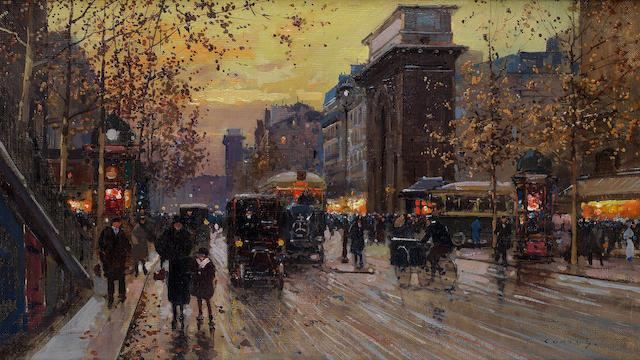 Edouard Henri Leon Cortès (French, 1882-1969) Porte St Martin and Porte St Denis