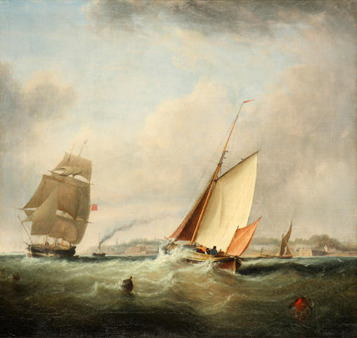 English School, 19th Century Vessels off the coast