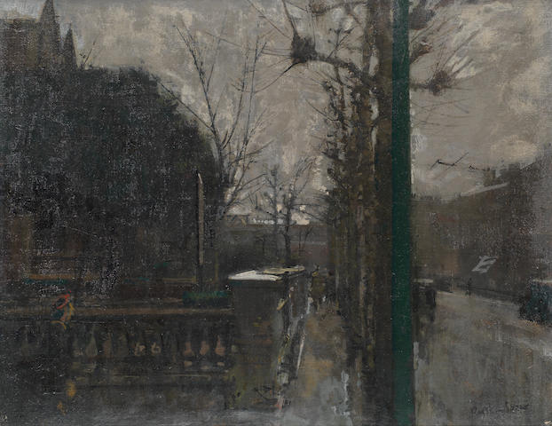 Ruskin Spear R.A. (British, 1911-1990) A London street in twilight