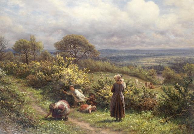 James Thomas Linnell (British, 1826-1905) A May morning