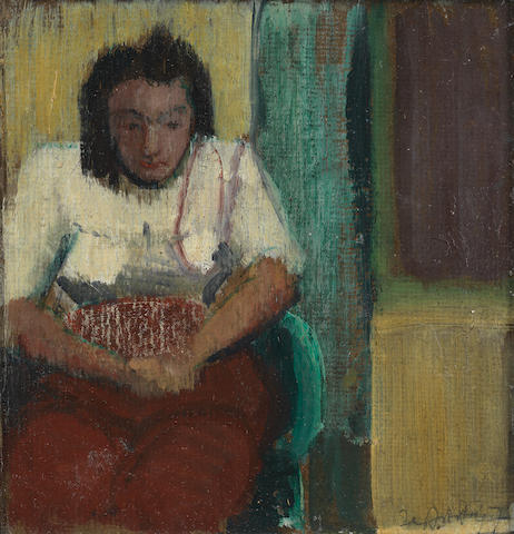Sir Terry Frost R.A. (British, 1915-2003) Seated Woman