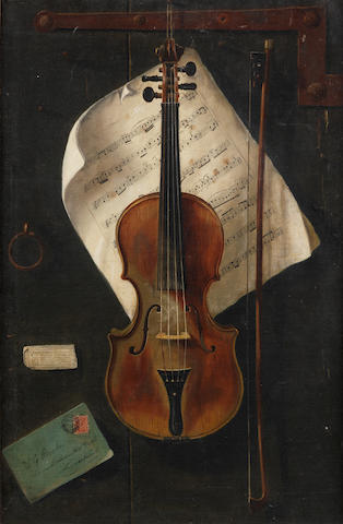 W.G. Becker (British, late 19th/early 20th Century) A trompe l'oeuil study of a violin