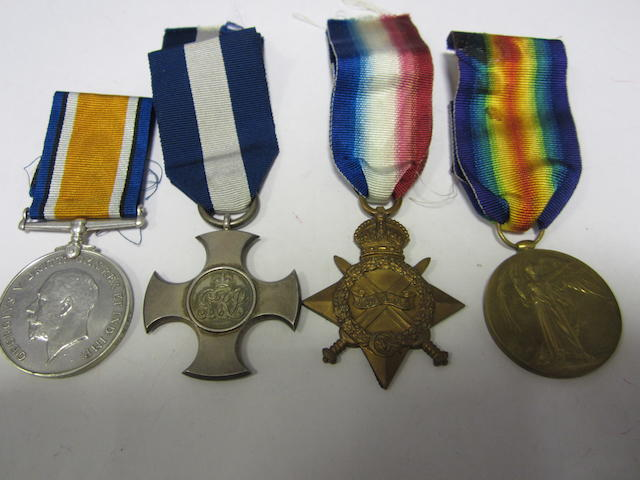 A Great War D.S.C. group of four to Lieutenant D.A.Gyles, Royal Navy,