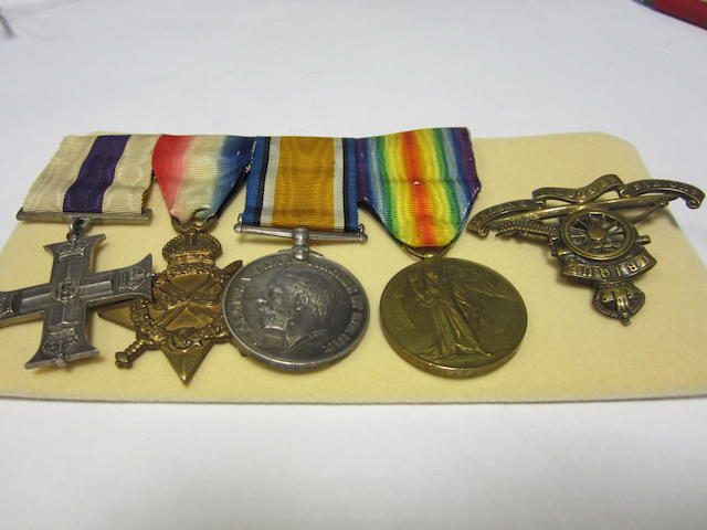 A Great War M.C. group of three to Captain J.C.B.Hawkins, Royal Artillery,