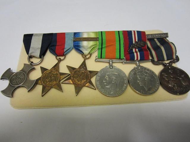 A Second World War D.S.C. to Lieutenant J.H.C.Collier, Royal Navy,