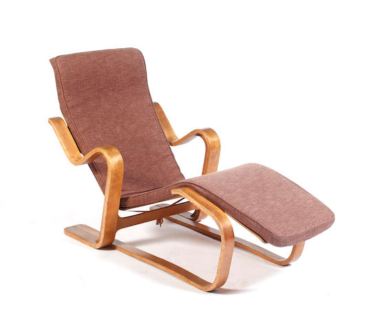 A Marcel Breuer Isokon long chair  Designed 1936, this model probably executed in the 1960's/70's