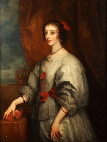 William Smith (19th Century), after Sir Anthony Van Dyck Portrait of a lady, seated half length with white lace trimmed dress