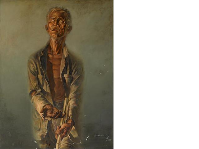 Vladimir Griegorovich Tretchikoff (South African, 1913-2006) 'Blind Beggar'