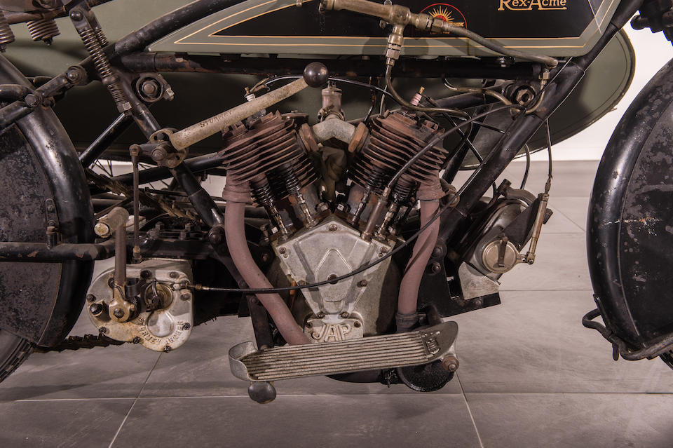 1920 Rex-Acme 8hp Motorcycle Combination Frame no. T20223 Engine no. 20/72999