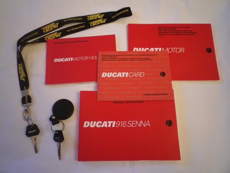 The last produced,1998 Ducati 916 Senna III No. 300 Frame no. ZDM 916S 012666 Engine no. ZDM 916W4 013158