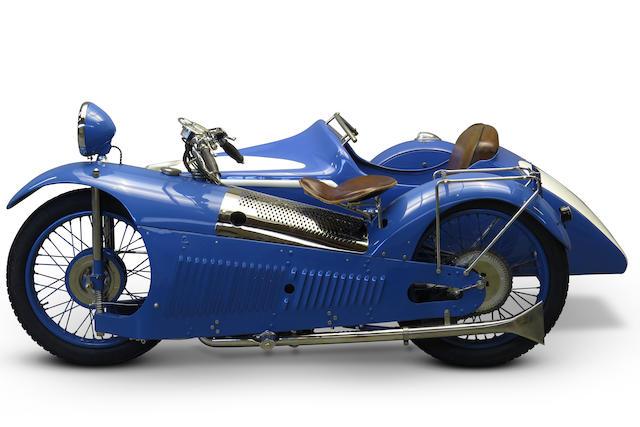 c.1930 Majestic 500cc & Bernardet Sidecar Frame no. 402617 Engine no. 402617